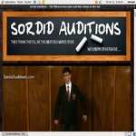 Sordid Auditions User Name