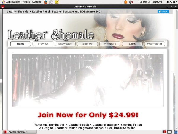 Leather Shemale Reduced Price