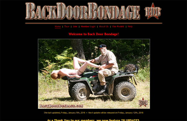 Backdoorbondage.com Save 50% On 30Day Pass